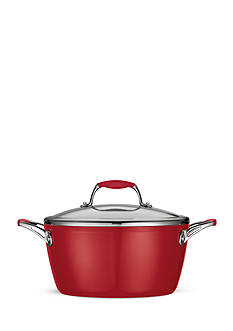 Tramontina Gourmet 5-qt. Deluxe Porcelain Enamel Ceramica 01 Metallic Red Covered Dutch Oven - Online Only