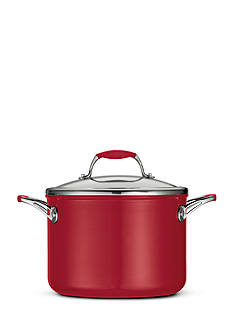Tramontina Gourmet 6-qt. Deluxe Ceramica 01 Metallic Red Covered Stock Pot - Online Only