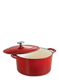 Tramontina Gourmet 6.5-qt. Red Enameled Cast Iron Covered Round Dutch Oven - Online Only