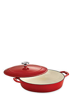 Tramontina Gourmet 4-qt. Red Enameled Cast Iron Covered Braiser