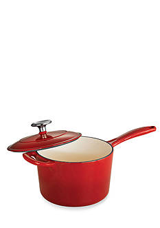 Tramontina Gourmet 2.5-qt. Red Enameled Cast Iron Covered Saucepan