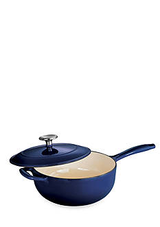 Tramontina Gourmet 3-qt. Cobalt Enameled Cast Iron Covered Saucepan