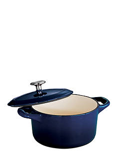 Tramontina Gourmet 10.5-oz. Cobalt Enameled Cast Iron Cocotte - Online Only