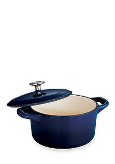 Tramontina Gourmet 24-oz. Cobalt Enameled Cast Iron Cocotte - Online Only