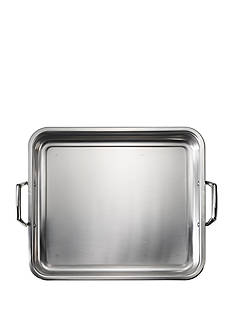 Tramontina Gourmet 16.5-in. Prima 18/10 Stainless Steel Roasting Pan - Includes Basting Grill - Online Only
