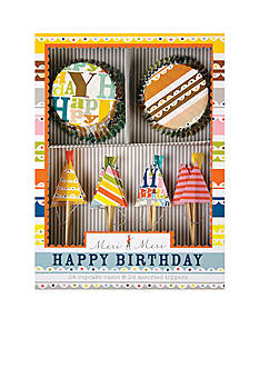 Meri Meri Patterned Happy Birthday Cupcake Kit