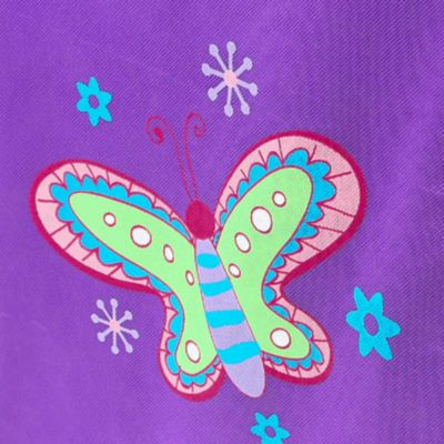Home Organization: Purple Modern Littles Purple Butterfly Organization Bundle- 2 Storage Bins, 1 Laundry Hamper