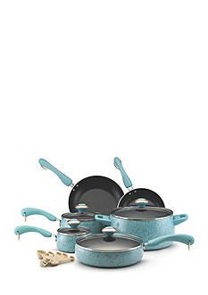Paula Deen Signature Porcelain Nonstick 15-Piece Set, Aqua Speckle - Online Only