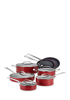 Circulon Genesis Aluminum Nonstick 12-Piece Cookware Set, Red - Online Only