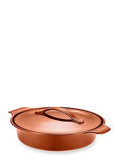 Anolon Vesta Stoneware 2.5-qt. Round Casserole, Persimmon Orange