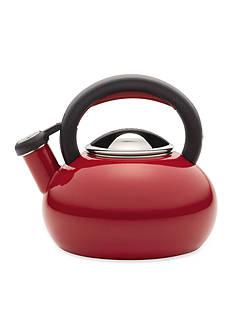 Circulon Teakettle 1.5-Quart Sunrise Teakettle Rhubard, Red