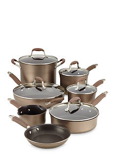 Anolon Advanced Hard Anodized 12-piece Bronze Cookware Set
