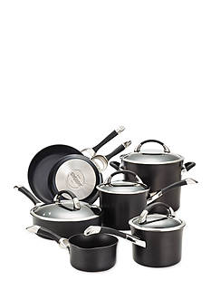 Circulon Symmetry Hard Anodized Nonstick 11-Piece Cookware Set, Black - Online Only