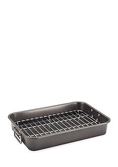 Farberware Bakeware 11-in. x 15-in. Roaster with Flat Rack - Online Only