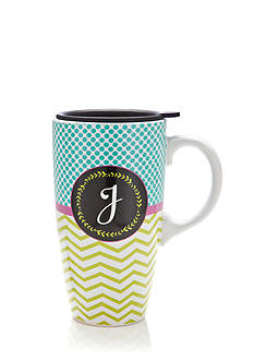 Home Accents J Latte Mug with Gift Box