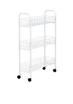 Household Essentials White Utility Cart - Online Only