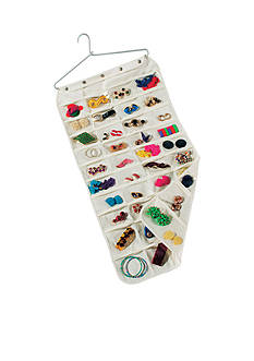 Household Essentials 80 Pocket Canvas Jewelry Organizer - Online Only