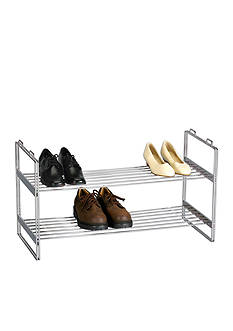 Household Essentials 2 Tier Shoe Rack Chrome Online Only