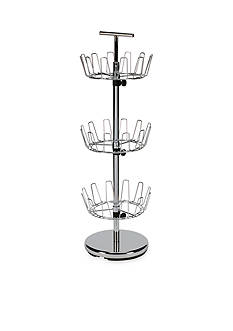 Household Essentials 3-Tier Revolving Shoe Tree, Chrome - Online Only