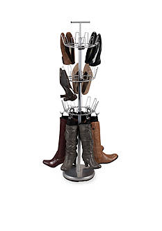 Household Essentials Adjustable Boot-Shoe Tree, Satin Silver - Online Only