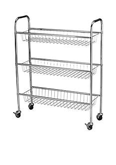 Household Essentials 9-in. Utility Cart, Chrome - Online Only