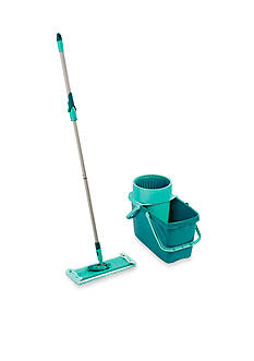 Leifheit Clean Twist XL Rectangle Mop/Sweeper Set with Mop and Spin Bucket