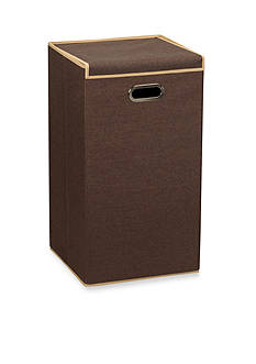 Household Essentials Lidded Laundry Hamper, Coffee Linen - Online Only