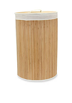 Household Essentials Round Bamboo Hamper with Cedar Bottom - Online Only