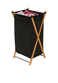 Household Essentials Bamboo X-Frame Laundry Hamper - Online Only