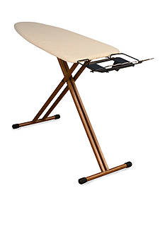 Household Essentials Bamboo-Leg Wide Top Ironing Board, Fibertech top - Online Only