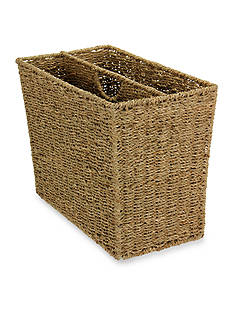 Household Essentials Seagrass Wicker Magazine Rack - Online Only