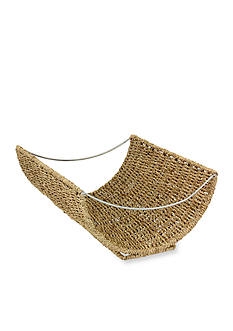 Household Essentials Scoop Wicker Magazine Rack - Online Only