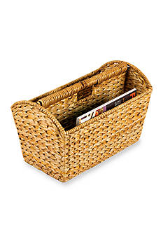 Household Essentials Banana Leaf Wicker Magazine Rack- Online Only