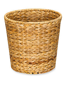 Household Essentials Banana Leaf Wicker Trash Can, Natural - Online Only