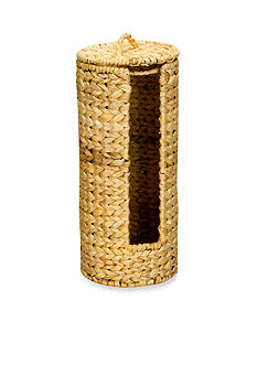 Household Essentials Banana Leaf Wicker Toilet Paper Holder - Online Only