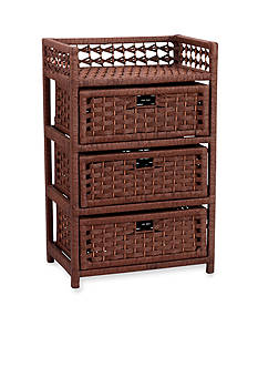 Household Essentials Paper Rope 3-Drawer Chest - Online Only