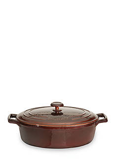 BergHOFF Cast Iron 11-in. Covered Oval Casserole