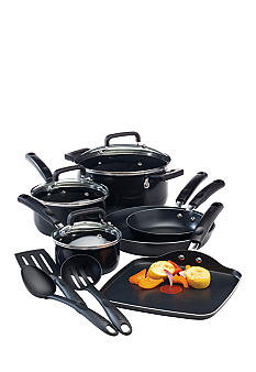 T-fal Signature 12 pc Black Non-stick Cookware Set