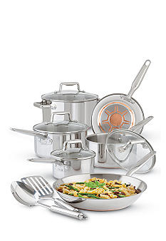T-fal Stainless Steel Ultimate Copper Bottom 12PC Cook Set