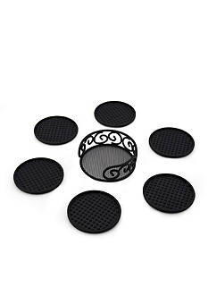 Kamenstein 7-Piece Black Wire Coaster