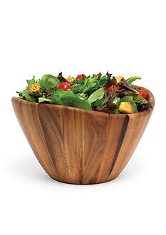 Lipper International Acacia Large Wave Bowl