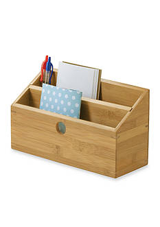 Lipper International Bamboo 2-Slot Organizer