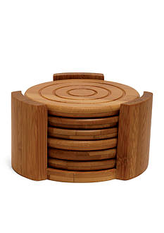Lipper International Bamboo 7-Piece Coaster Set