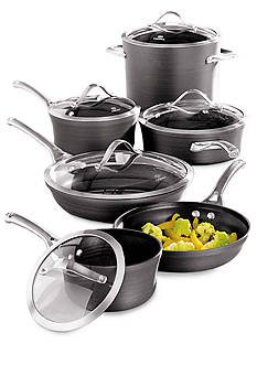 Calphalon Contemporary Hard Anodized Nonstick 11-Piece Cookware Set