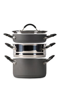 Tabletops Unlimited 4-piece Stax Living Non-Stick Multi-Function Cooking System - Casserole/Steamer Insert/Saute-use - Online Only