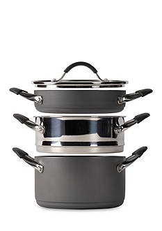 Tabletops Unlimited 4-Piece Stax Living Nonstick Multi-Function Cooking System - Casserole/Steamer Insert/Saute-use - Online Only