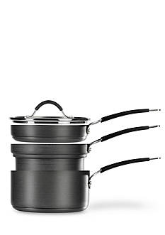 Tabletops Unlimited 4-Piece Stax Living Nonstick Hard Anodized Sauce Pan Set - Online Only
