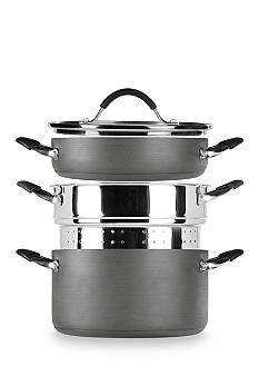Tabletops Gallery 4-piece Stax Living Non-Stick Multi-Funtion Cooking System - Dutch Oven/Pasta Insert/Saute-use - Online Only