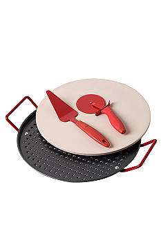 Tabletops Unlimited Vita Italiana 4pc Pizza Set - Online Only