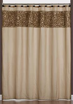 Saturday Knight Ruffle Border Shower Curtain